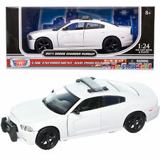 MOTORMAX 76934 2011 DODGE CHARGER PURSUIT 1/24 UNMARKED POLICE CAR WHITE
