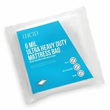 Lucid 6 Mil Ultra Heavy Duty Mattress Bag for Moving, Storage o. Free Shipping