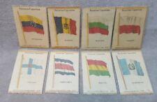8 Kensitas Cigarette Tobacco Silks World Flags.
