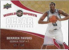 2010 UD WORLD OF SPORTS CLEAR COMPETITORS CC7 DERRICK FAVORS 502/550 FREE SHIP