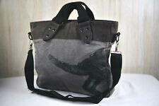 Kangol Canvas Tote - Grey & Black - Cell Phone Pouch Shoulder Bag Handbag Purse