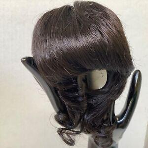 Joliette Modacrylic Doll Wig in Color Dark Brown  Size 15-16 by Global Dolls NOS