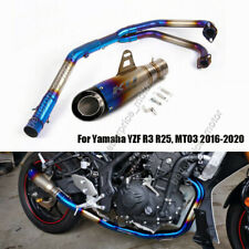 For Yamaha YZF R3 R25 MT03 Exhaust System Pipe Front Header Slip On 51mm Muffler