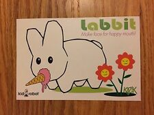 FRANK KOZIK Bunny Rabbit Labbit KID ROBOT Postcard Flyer Advertisement RARE!