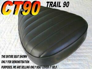 CT90 CT110  New seat cover Honda 1972-86 CT 90 black piping 067