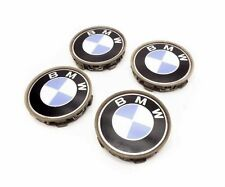 04 BMW 325ci E46 WHEEL HUB CENTER CAP COVER SET (4) BLUE/WHITE LOGO EMBLEM