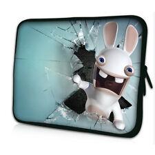 "Custodia Laptop 17-17,3"" Borsa Custodia Portatile 4, tutti i computer portatili, GRATIS Coniglio #White #"