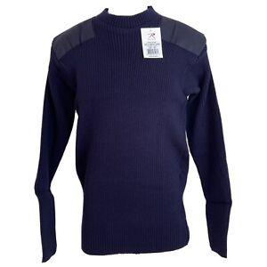 Rothco 6347 GI Military Acrylic Commando Crew Neck Sweater Navy Blue Men's Small