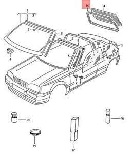 Genuine Volkswagen Seal For Rear Window NOS Rabbit Golf Cabrio 1E 1V 1E0845521