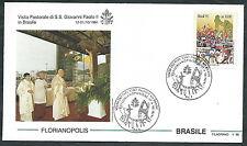 1991 VATICANO VIAGGI DEL PAPA BRASILE FLORIANOPOLIS - SV2