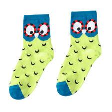 Fashion Unisex Striped Cartoon Socks 3D Animals Women Owl Footprints Cotton Sock