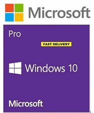 Windows 10 PRO 32/64 Bit Win 10 OEM Genuine originale di licenza CODICE DI ATTIVAZIONE