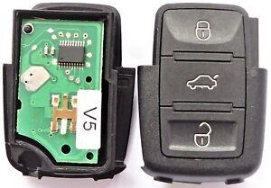 Auto Schlüssel Sendeeinheit 1J0959753DA 3 Tasten 433 MHz für VW Skoda Seat