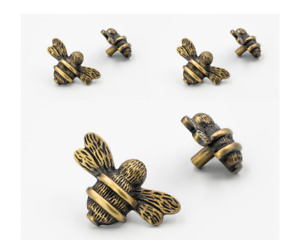 6 x Brass Bee Bumblebee Drawer Knobs   Drawer Handle   Cupboard knob