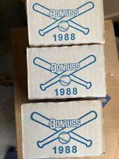 1988 Donruss Factory Sealed Complete Baseball Set Lot of 3