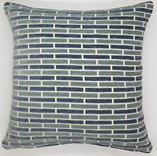 Handmade Shades of Blue & Grey Heavy Embossed Home Decor Cushion Cover 45x45 New