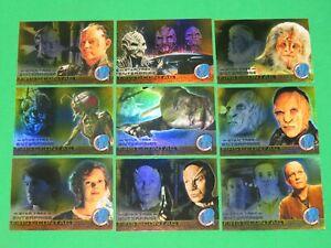 2004 STAR TREK ENTERPRISE SEASON 3 INSERT 9 CARD SET FIRST CONTACT F22-F30!
