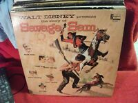 Walt Disney the Story of Savage Sam 1963 LP Thurl Ravenscroft Terry Gilkyson