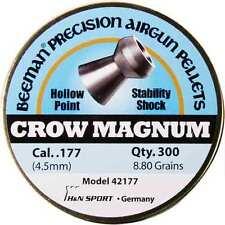 Beeman Crow Magnum .177 Cal 8.80 Grains Hollowpoint 300ct 4.5mm