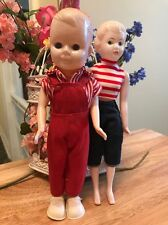 Vintage 60's plastic/celluloid 9 1/2 inch Dolls Hong Kong