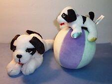 Big Dogs St. Bernard - Plush Black White Advertising Clothing Puppy - BABY - LOT
