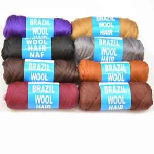 Brazilian Wool Hair Faux Locks Braids Twists Knitting Synthetic Brazil Wool Yarn