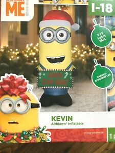 Despicable Me Minions Kevin Airblown Inflatable Gemmy Minion 5ft Christmas Decor