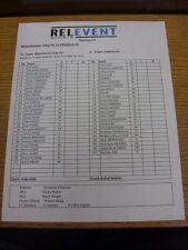 25/05/2013 Colour Teamsheet: In Yankee Stadium, New York: Manchester City v Chel