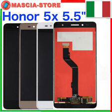 """TOUCH SCREEN VETRO + LCD DISPLAY ASSEMBLATO per HUAWEI HONOR 5X 5,5"""" Completo"""