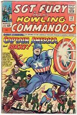 Sgt. Fury & His Howling Commandos #13 (1964) Captain America Lee/Kirby