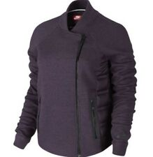 Nike Tech Fleece Aeroloft 800 Moto Jacket Womens Size L Purple RRP £150 Free P&P