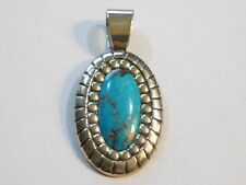 Large Carolyn Pollack's RELIOS Sterling Silver & Turquoise Pendant