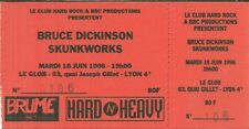 RARE / TICKET BILLET CONCERT - BRUCE DICKINSON ( IRON MAIDEN ) LYON FRANCE 1996