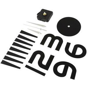 Sticker horloge murale bricolage moderne décor de bureau à domicile (noir)