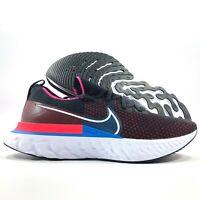 Nike React Infinity Run FK Flyknit Black White Red Blue CD4371-005 Men's 8