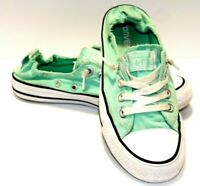 Converse All Star, Womens Low Shoreline, Size 7, Mint Green