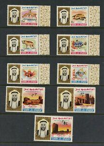 U921 Umm Al Qiwain 1965 Poisson Faune Forts Officiels 9v. MNH