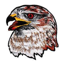 ad87 Adler Kopf Eagle Biker Kutte Vogel Aufnäher Bügelbild Flicken 7,5 x 8,5 cm