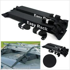 Soft Black 600D Oxford & PVC Autos Rooftop Luggage Cargo Storage Baggage Holder