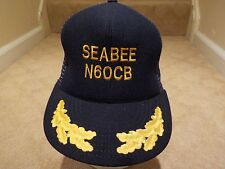 Usa Made Seebee N60Cb Trucker / Pilots Cap / Hat - Navy Blue - One Size Fits All