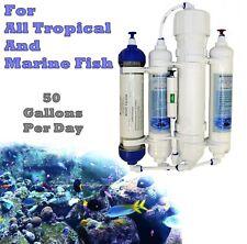 4 Stage Compact Aquarium Reverse Osmosis Filter System - RO Unit & DI Resin