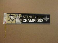 NHL P.Penguins 2009 Stanley Cup Champs Bumper Sticker
