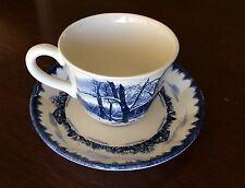 International China Made in England RIVERWOOD #107 Tea Cup & Saucer