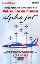 Caracal Decals 1/72 PATROUILLE de FRANCE French Alpha Jet Aerobatic Team