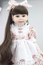 "18"" 45cm semi-soft fashion smiling vinyl doll education toy"