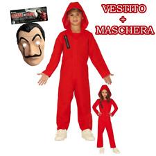 Tuta La casa di Carta Tuta La Casa de Papel Costume Bambino 5-14 Anni Maschera