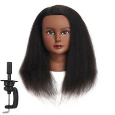 Afro American Cosmetology Mannequin Head 100 Human Hair Hairdresser Training