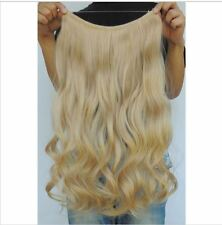 "BEACH BLONDE #613 HALO STYLE FLIP IN STYLE HAIR EXTENSIONS 24"" PRINCESS TRESSES"