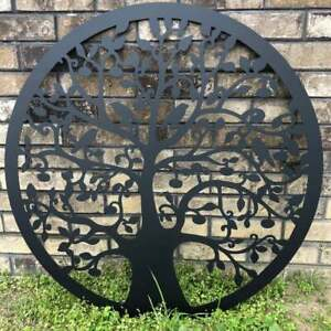 Tree of Life with Birds Metal Sign LARGE Indoor/Outdoor, Mother's Day Gift set.