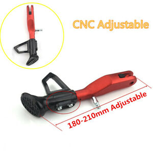 CNC Aluminum Adjustable 18-21CM Motorcycle Kickstand Foot Support Side Stand